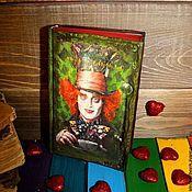 """Книги для рецептов ручной работы. Ярмарка Мастеров - ручная работа Коллекционная книга """"Алиса в стране Чудес"""". Handmade."""