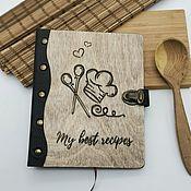 Канцелярские товары handmade. Livemaster - original item Wooden notebook for writing down recipes. Handmade.