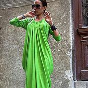 Одежда ручной работы. Ярмарка Мастеров - ручная работа Платье летнее Grass Green. Handmade.