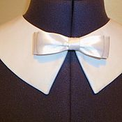Аксессуары handmade. Livemaster - original item Bortnichuk bow white crepe with a bow. Handmade.