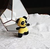 Куклы и игрушки handmade. Livemaster - original item The little Panda in a yellow coat. Handmade.