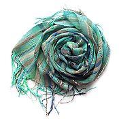Аксессуары ручной работы. Ярмарка Мастеров - ручная работа Бохо шарф-палантин домотканый. Handmade.