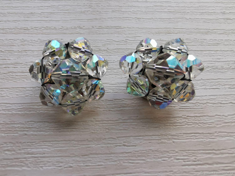Earrings vintage: Clip-On Earrings Aurora Borealis/Aurora Borealis, Vintage earrings, Kaliningrad,  Фото №1