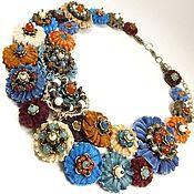 Украшения handmade. Livemaster - original item Denim Philosophy. necklace.. Handmade.