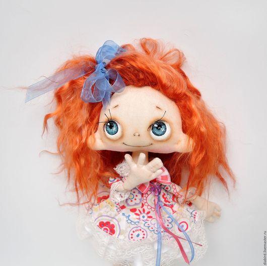 Куклы тыквоголовки ручной работы. Ярмарка Мастеров - ручная работа. Купить Кукла текстильная интерьерная. Аленка. Handmade. Рыжий, кружева