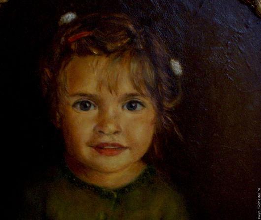 Алиса. Портрет дочери моей подруги выполнен мной маслом. Ярмарка Мастеров. Живопись на заказ. Портрет. Купить картину.  Картина маслом