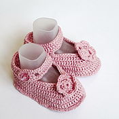 Одежда детская handmade. Livemaster - original item Booties shoes pink. Handmade.