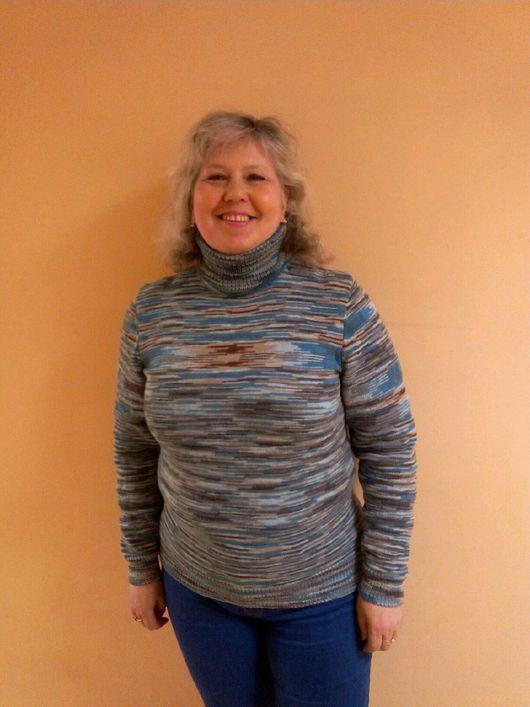 Комплекты аксессуаров ручной работы. Ярмарка Мастеров - ручная работа. Купить вязанный свитер. Handmade. Комбинированный, в полоску, шерсть 100%