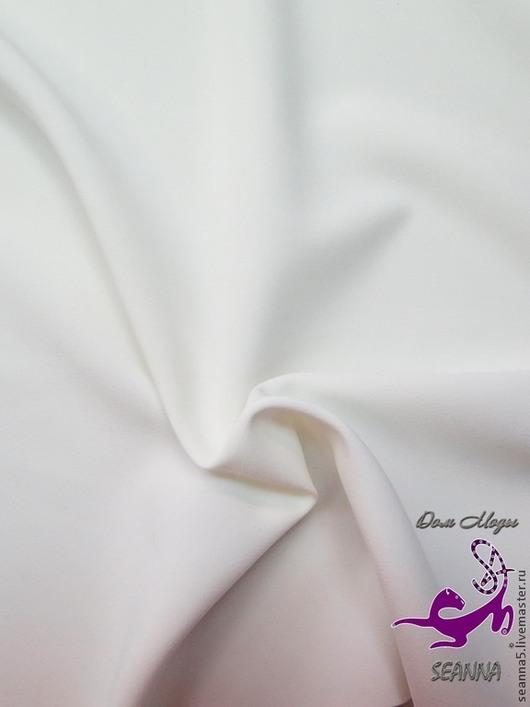 Шитье ручной работы. Ярмарка Мастеров - ручная работа. Купить Костюмная ткань молочно-белого цвета. Handmade. Белый
