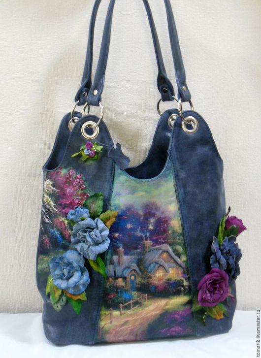 Женские сумки ручной работы. Ярмарка Мастеров - ручная работа. Купить сумка женская ЦВЕТОЧНАЯ ПАСТОРАЛЬ из натуральной кожи. Handmade.