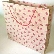 Сувениры и подарки ручной работы. Ярмарка Мастеров - ручная работа Пакет из крафт-бумаги, 26х26х8 см. Handmade.