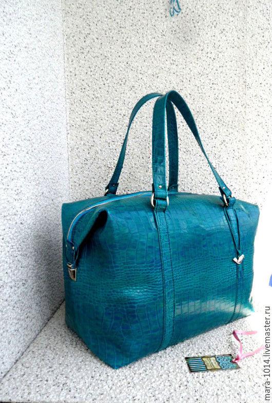 Женские сумки ручной работы. Ярмарка Мастеров - ручная работа. Купить СИТИ в деталях, большая кожаная сумка, дорожная, вместительная. Handmade.