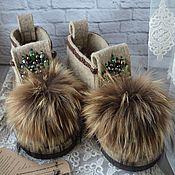"""Обувь ручной работы. Ярмарка Мастеров - ручная работа Дизайнерские валенки """"Восход"""". Handmade."""