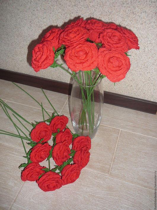 Цветы ручной работы. Ярмарка Мастеров - ручная работа. Купить Розы цветы крючком. Handmade. Розы, цветы, цветы на заказ