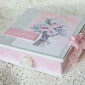 """Открытки ручной работы. Ярмарка Мастеров - ручная работа Свадебная коробочка """"Счастливая пара"""" (В наличии). Handmade."""