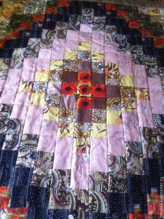 """Текстиль, ковры ручной работы. Ярмарка Мастеров - ручная работа. Купить Комплект """"Красивая геометрия""""  (покрывало + 2 наволочки). Handmade."""