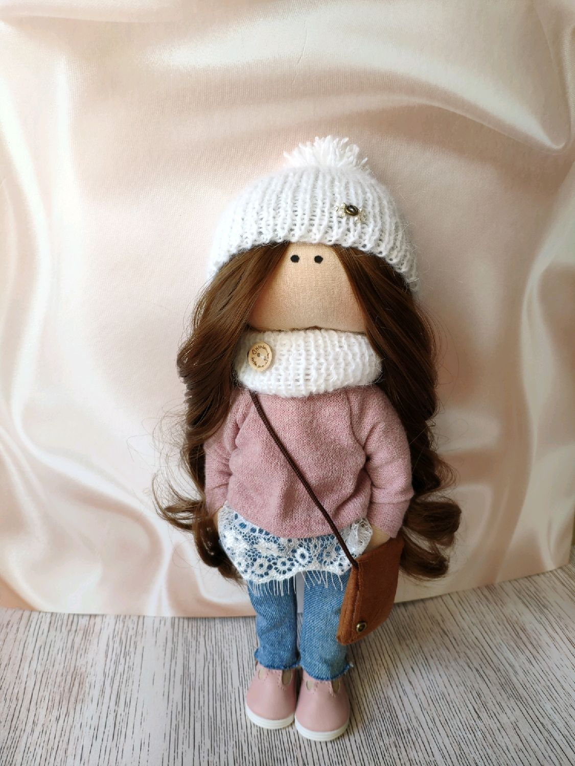 Gift to the girl doll textile portrait by photo, Portrait Doll, Moscow,  Фото №1