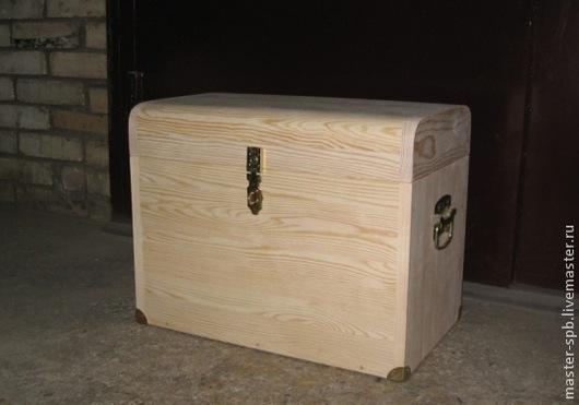 Деревянный сундук под роспись и декупаж 520х300х390