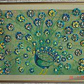 """Картины и панно ручной работы. Ярмарка Мастеров - ручная работа Картина лентами """"Жар-птица"""". Handmade."""