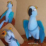 Куклы и игрушки ручной работы. Ярмарка Мастеров - ручная работа М/ф Рио - попугай Жемчужинка. Handmade.