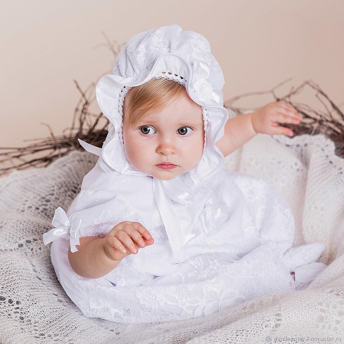 ИЗОЛЬДА кружевная шапочка для девочки, , Москва,  Фото №1
