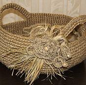 Для дома и интерьера handmade. Livemaster - original item Basket made of jute. interior.. Handmade.