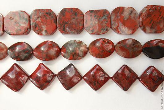 Для украшений ручной работы. Ярмарка Мастеров - ручная работа. Купить Яшма красная. Handmade. Яшма, бусины квадратные, для бижутерии