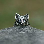 Украшения handmade. Livemaster - original item Fox ring with cubic zirconia   925 Silver. Handmade.