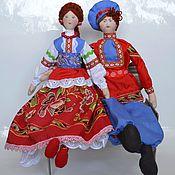 Куклы и игрушки ручной работы. Ярмарка Мастеров - ручная работа Казак и казачка. Handmade.