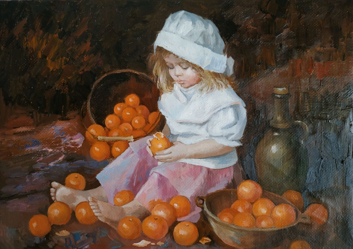 Girl with oranges, Pictures, Moscow,  Фото №1