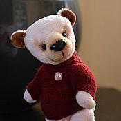 Куклы и игрушки ручной работы. Ярмарка Мастеров - ручная работа Розовая мишка тедди Рози в бордовом свитере. Handmade.