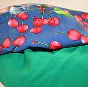 """Одежда ручной работы. Ярмарка Мастеров - ручная работа Юбка (2в1) из корейской вискозы """"Сочная вишня"""". Handmade."""