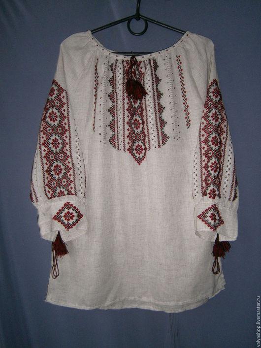 Блузки ручной работы. Ярмарка Мастеров - ручная работа. Купить Блуза-вышиванка из льна Карпатский узор 40-42 готовая и на заказ. Handmade.