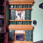 Для дома и интерьера handmade. Livemaster - original item Tiled fireplace Gamayun. Handmade.