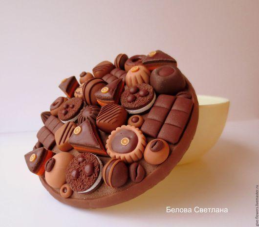 Конфетницы, сахарницы ручной работы. Ярмарка Мастеров - ручная работа. Купить Шкатулка Шоколадная. Handmade. Коричневый, конфеты, шкатулка в подарок