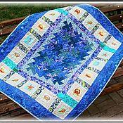 """Для дома и интерьера ручной работы. Ярмарка Мастеров - ручная работа Лоскутное одеяло """"Тайны морских глубин"""". Handmade."""