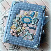 Фотоальбомы ручной работы. Ярмарка Мастеров - ручная работа Альбом для мальчика. Handmade.