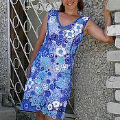 """Одежда ручной работы. Ярмарка Мастеров - ручная работа Платье """"Аквамарин"""" Ирландское кружево. Handmade."""