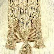"""Сумки и аксессуары ручной работы. Ярмарка Мастеров - ручная работа """"Юность моя..."""", плетёная сумка, лён, макраме. Handmade."""