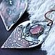 Серьги ручной работы. Серьги медные с оловом и стеклом-розовые. Мастерская Алины Глазуновой (alina-glazunova). Ярмарка Мастеров.