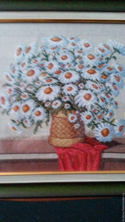 Картины цветов ручной работы. Ярмарка Мастеров - ручная работа. Купить Букет ромашек. Handmade. Полевые цветы, романтический подарок