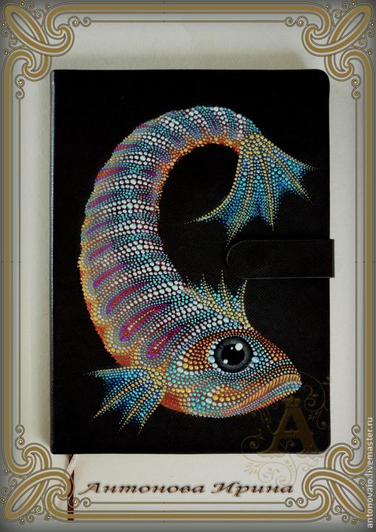 Ежедневник-`Рыба`, для дома ручной работы.Антонова Ирина.Ярмарка Мастеров.