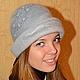 """Шляпы ручной работы. Ярмарка Мастеров - ручная работа. Купить Шляпка валяная """"Andante"""". Handmade. Серый, женская шляпка"""