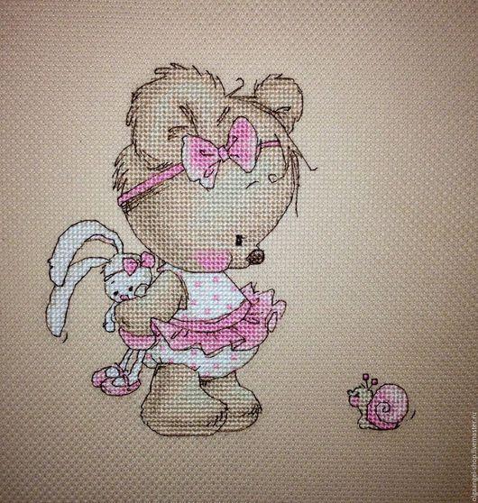 """Детская ручной работы. Ярмарка Мастеров - ручная работа. Купить Детская метрика """"Мишка с улиткой"""". Handmade. Бледно-розовый, метрика"""