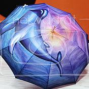 Аксессуары ручной работы. Ярмарка Мастеров - ручная работа Расписной зонт Танцующий кит. Handmade.
