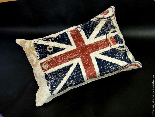 Текстиль, ковры ручной работы. Ярмарка Мастеров - ручная работа. Купить Лондон Диванная подушка в машину Английский флаг Подарок мужчине. Handmade.