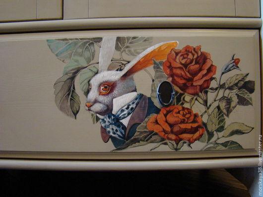 """Детская ручной работы. Ярмарка Мастеров - ручная работа. Купить """"Алиса"""" Платяной шкаф. Handmade. Роспись мебели"""