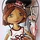 Куклы тыквоголовки ручной работы. Ярмарка Мастеров - ручная работа. Купить Кукла - тыквоголовка Барышня в розовом. Handmade. Подарок, атлас