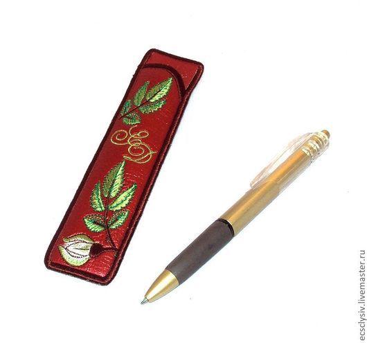 """Пеналы ручной работы. Ярмарка Мастеров - ручная работа. Купить Футляр для ручки  """"Шиповник"""". Handmade. Футляр, оригинальный подарок"""