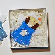 Для дома и интерьера ручной работы. Ярмарка Мастеров - ручная работа Подвеска из стекла Ангелочки. Handmade.